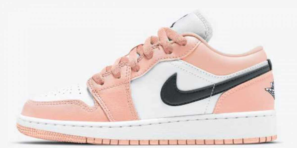 "Discount Air Jordan 1 Low GS ""Light Arctic Pink"" 553560-800"