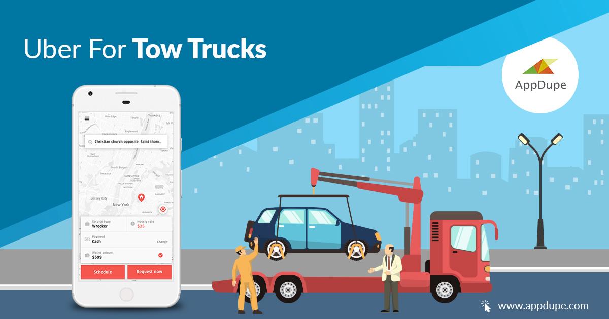 Uber for Tow Truck   On-demand Tow Truck App Development