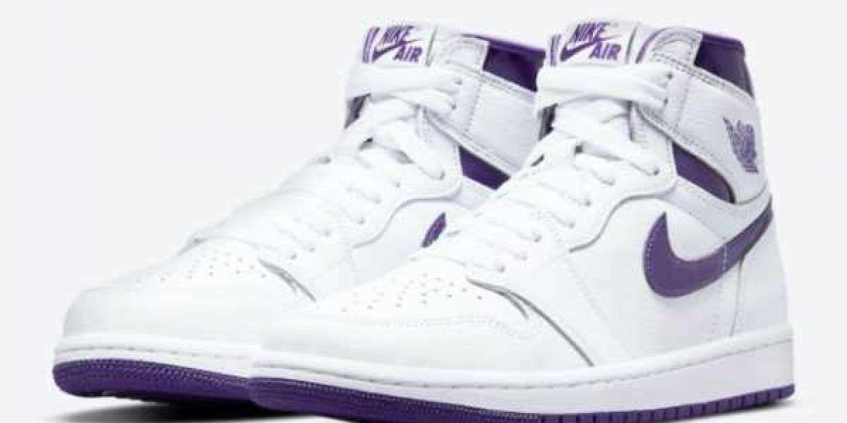 """2021 Newest Air Jordan 1 High OG """"Court Purple"""" CD0461-151"""