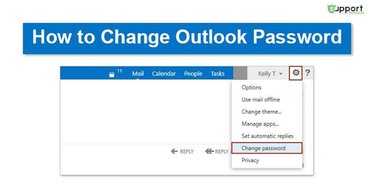 How can I change Outlook password?