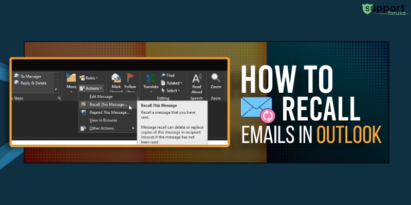 How Do I Recall an Email in Outlook 365 and Outlook 2016?