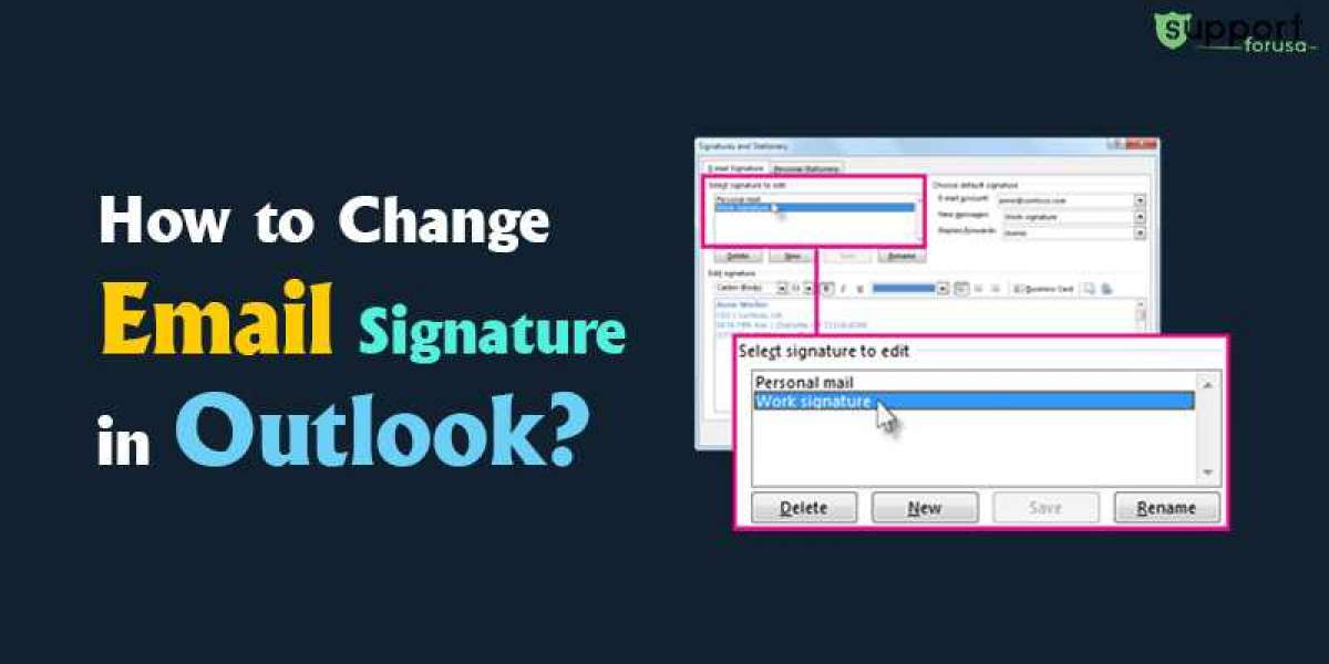 What are the steps to change email signature in Outlook?